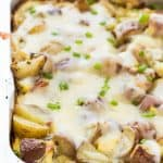 No-Dishes Grilled Breakfast Casserole: A complete breakfast, brunch or brinner made on the grill or in the oven with no pots or pans! Full of potatoes, ham, peppers, onions, eggs and cheese – the perfect summer meal for any time of day! www.thereciperebel.com