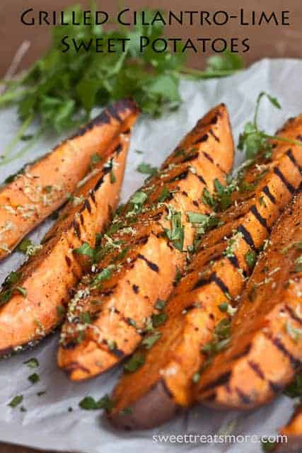grilled cilantro lime sweet potatoes sweet treats and more