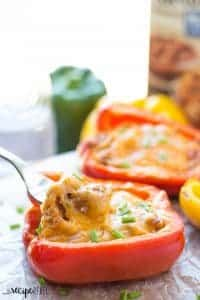 Grilled Pulled Pork Stuffed Peppers