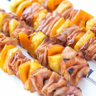 Hawaiian Ham and Pineapple Skewers