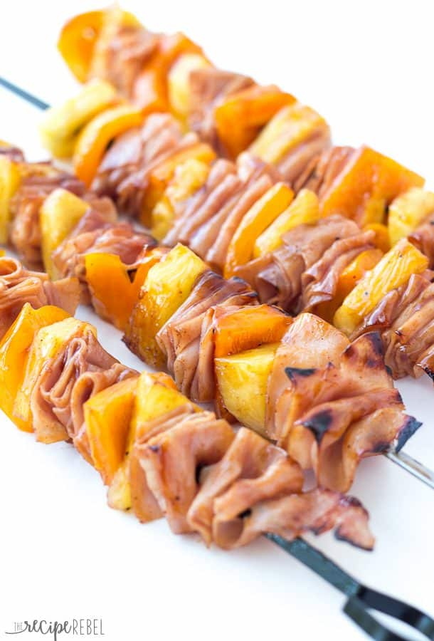 Hawaiian Ham and Pineapple Skewers