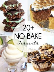 20+ No Bake Desserts! Find the perfect sweet treats for the rest of the summer -- from cookies and cheesecakes to ice cream and pie! www.thereciperebel.com