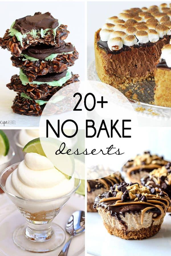 20+ No Bake Desserts for Summer!