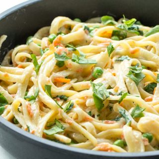 One Pot Pasta Primavera Recipe + VIDEO