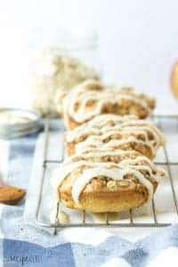 Baked Maple Glazed Apple Crisp Doughnuts (Donuts)