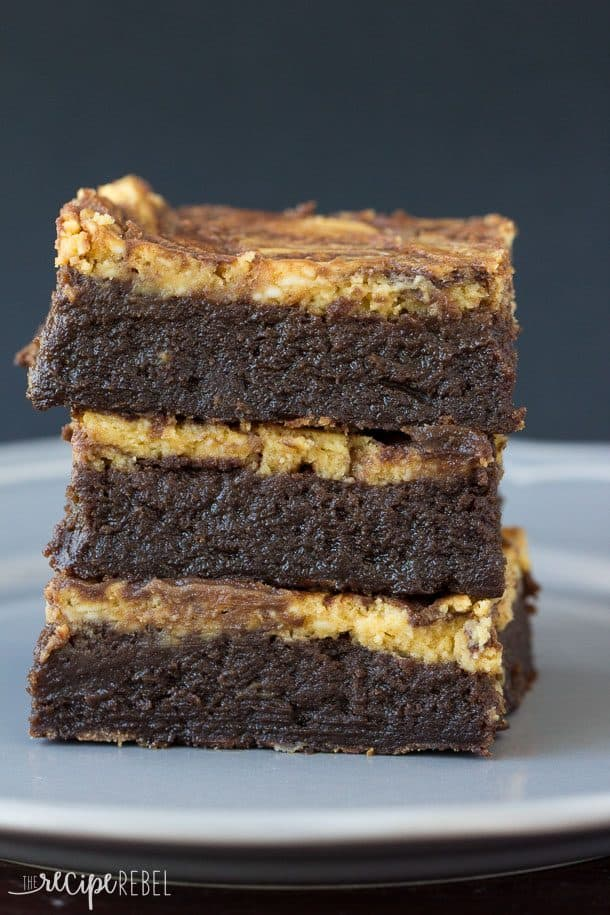 brownies topped with pumpkin cheesecake -- a naturally gluten free ...