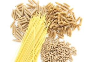 image of a variety of long and short pastas