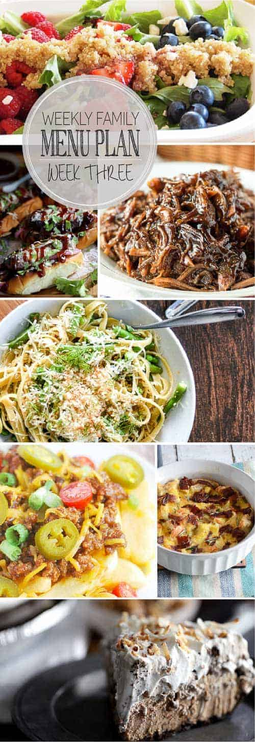 All your weekly dinner needs in one place! 5 great main dishes, a weekend brunch recipe and dessert!