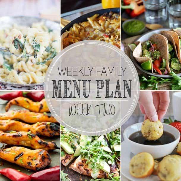 Weekly Menu Plan August 9-15 www.thereciperebel.com (2 of 3)
