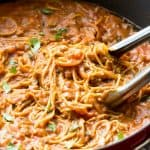 Healthy One Pot Spaghetti and Meat Sauce www.thereciperebel.com-4