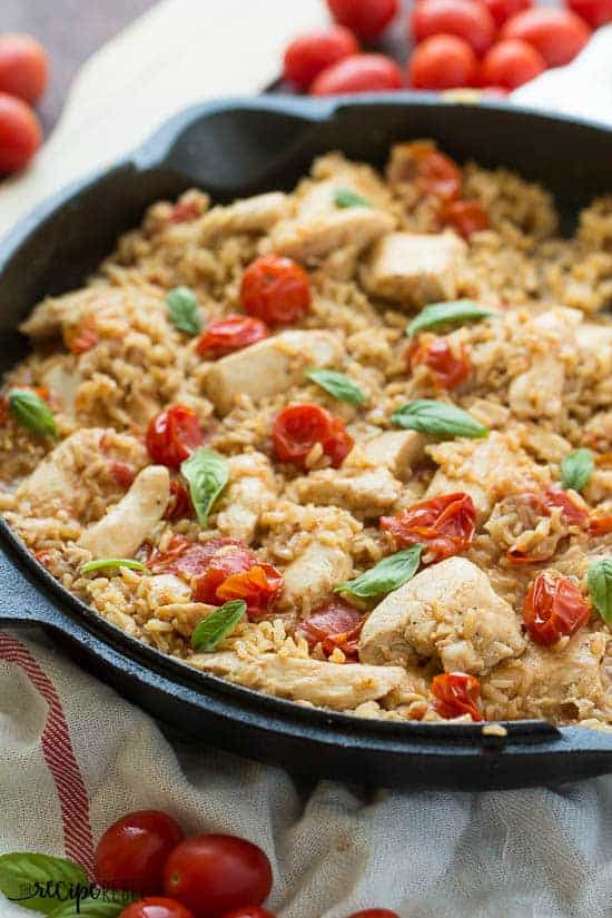 One Pot Caprese Chicken and Rice and a Giveaway!