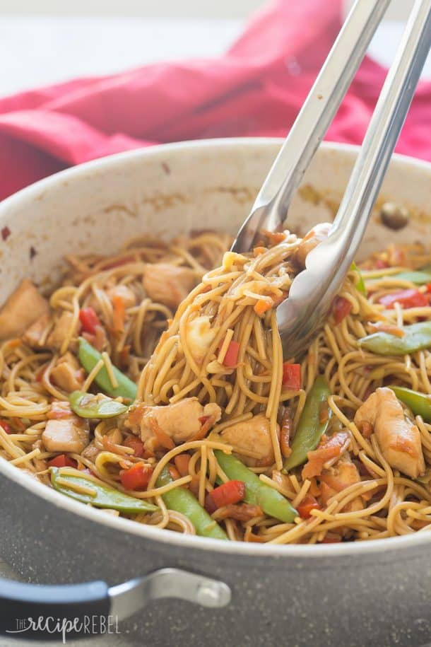 Easy One Pot Chicken Chow Mein Recipe Video 30 Minutes
