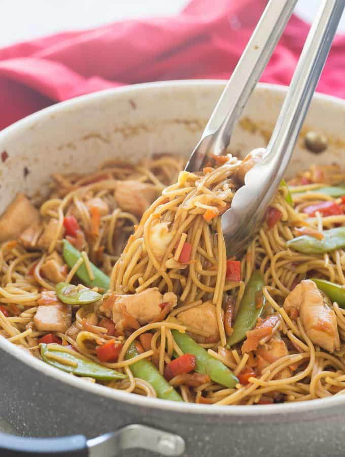 One Pot Chicken Chow Mein Recipe + VIDEO