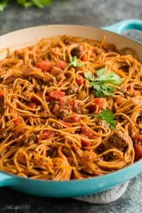 one pot spaghetti in pot