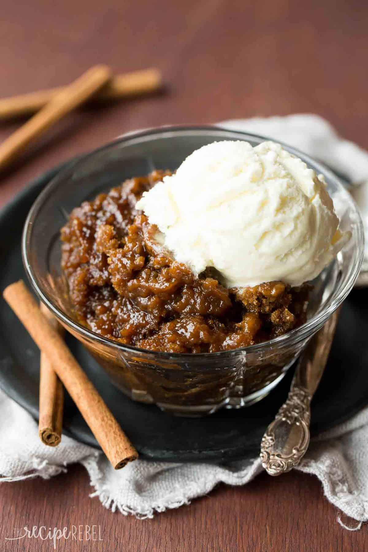 Crockpot Gingerbread Pudding Cake Recipe