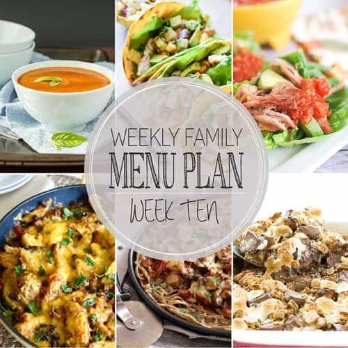 Weekly Menu Plan 10 (4 of 8)