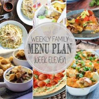 Weekly Menu Plan 11 (Happy Thanksgiving!)