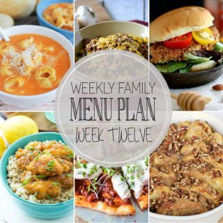 Weekly Menu Plan 12