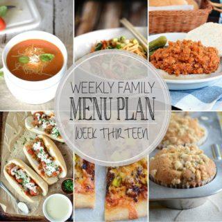 Weekly Menu Plan: dinners, dessert and breakfast! Family friendly