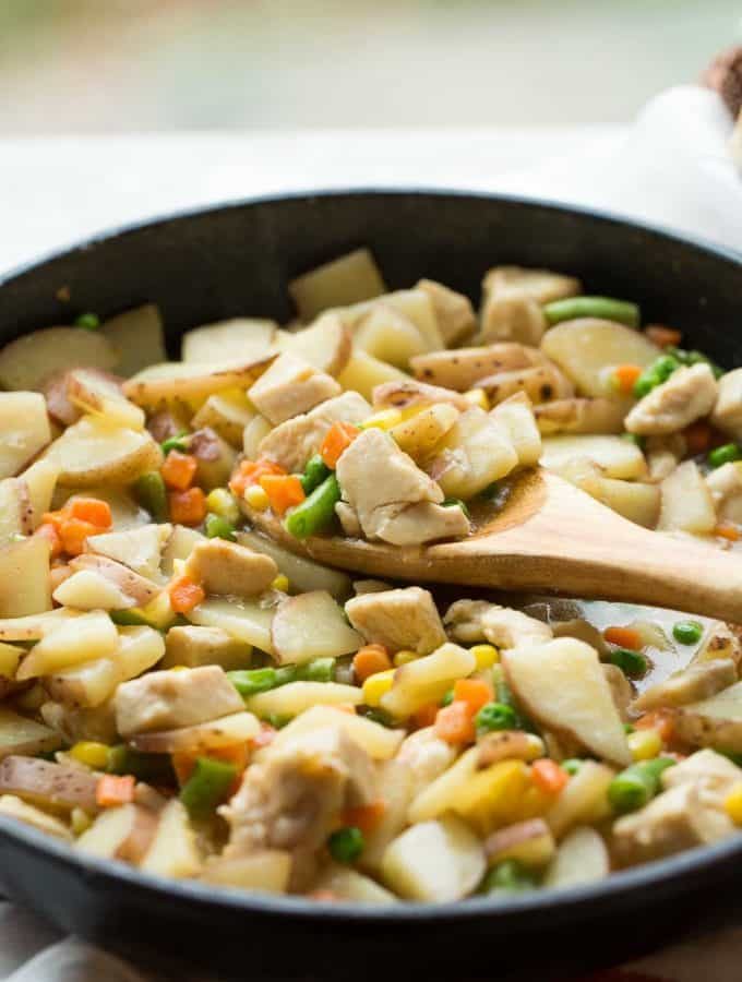 30 Minute Skillet Chicken Stew