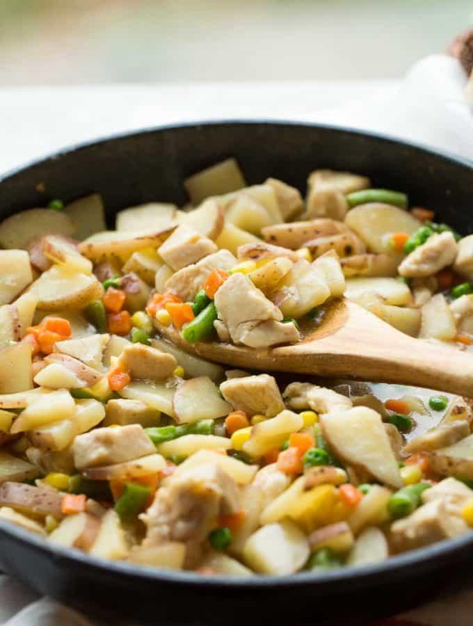 30 Minute Skillet Chicken Stew