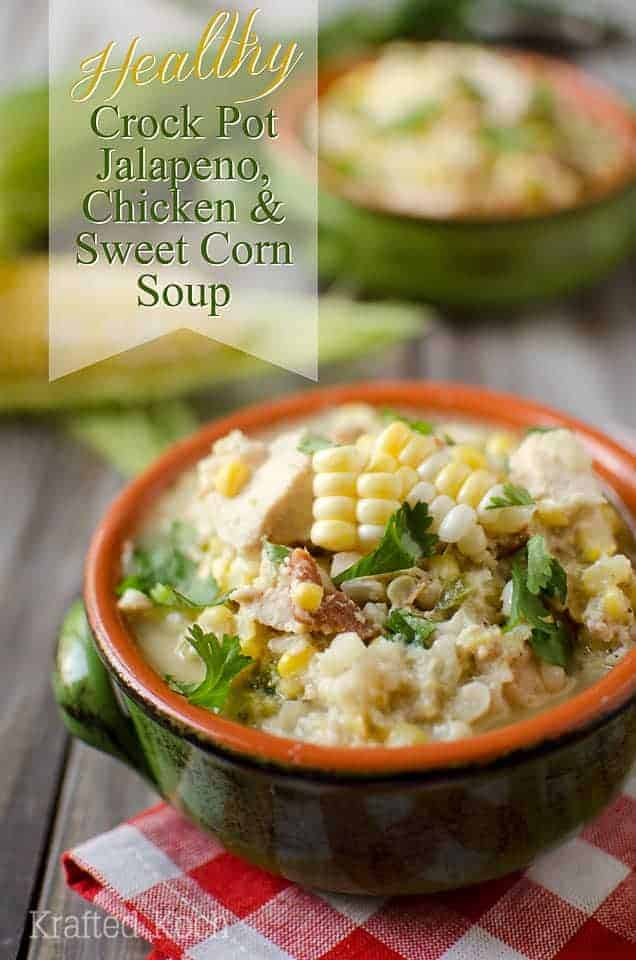crockpot jalapeno chicken and sweet corn soup