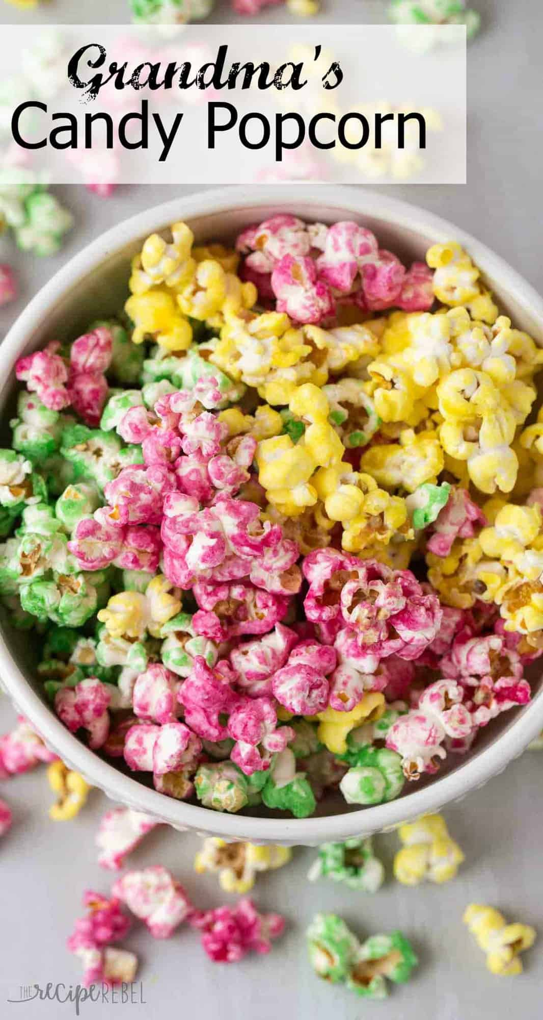 candy popcorn is an easy holiday treat that is perfect for gift giving my grandmas - Easy Christmas Candy Recipes For Gifts