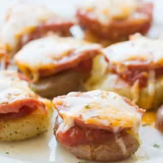 Easy Pizza Smashed Potatoes