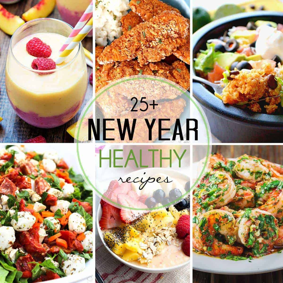 The recipes you need to make a new start in a New Year! Tons of healthier options that taste just as great :)