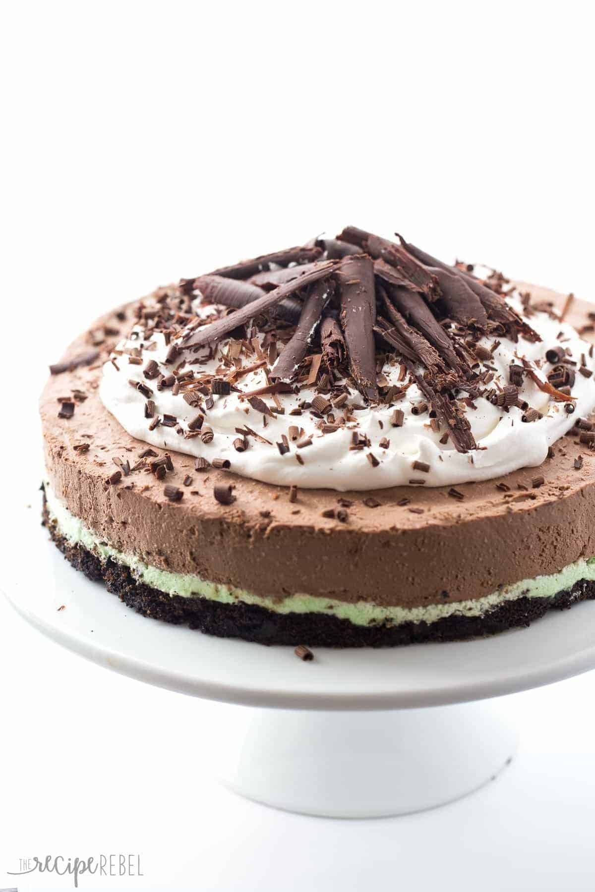 ... no bake chocolate cheesecake filling! Top it with whipped cream and