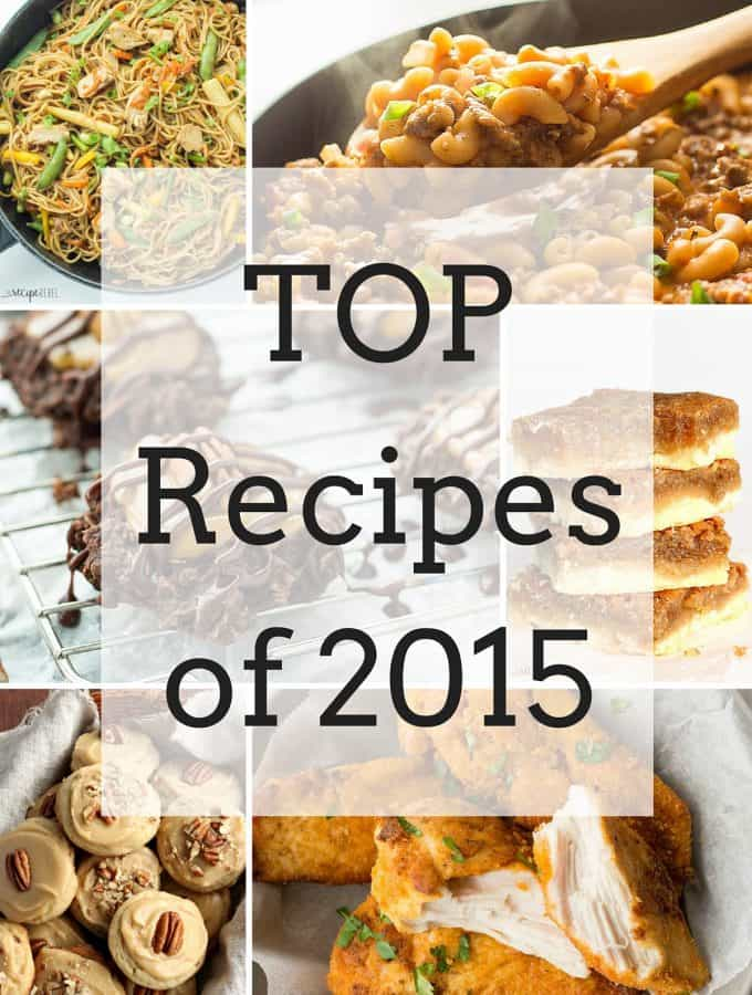 Top Recipes of 2015 (and what's ahead for 2016)!