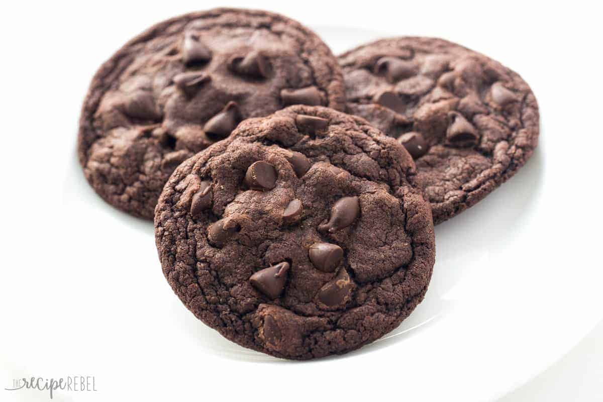 Chewy Chocolate Cookies Moms Double Chocolate Cookies Perfectly Chewy