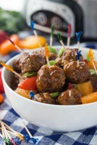 Slow Cooker Pineapple Brown Sugar Meatballs