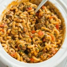 hamburger helper recipe in slow cooker
