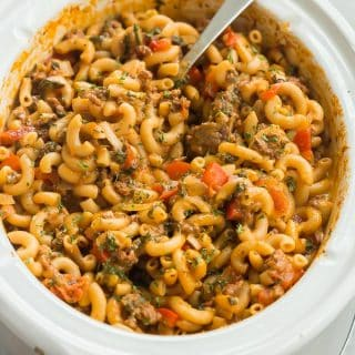 Healthier Slow Cooker Hamburger Helper Recipe