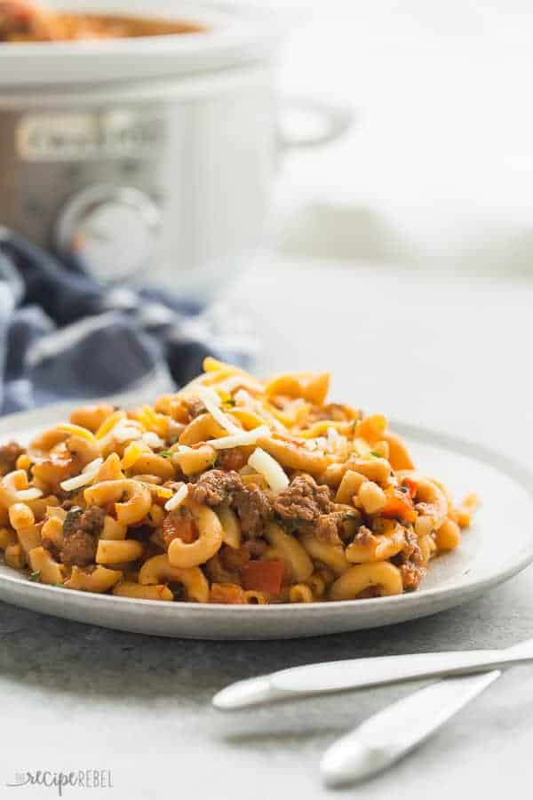 hamburger helper with slow cooker