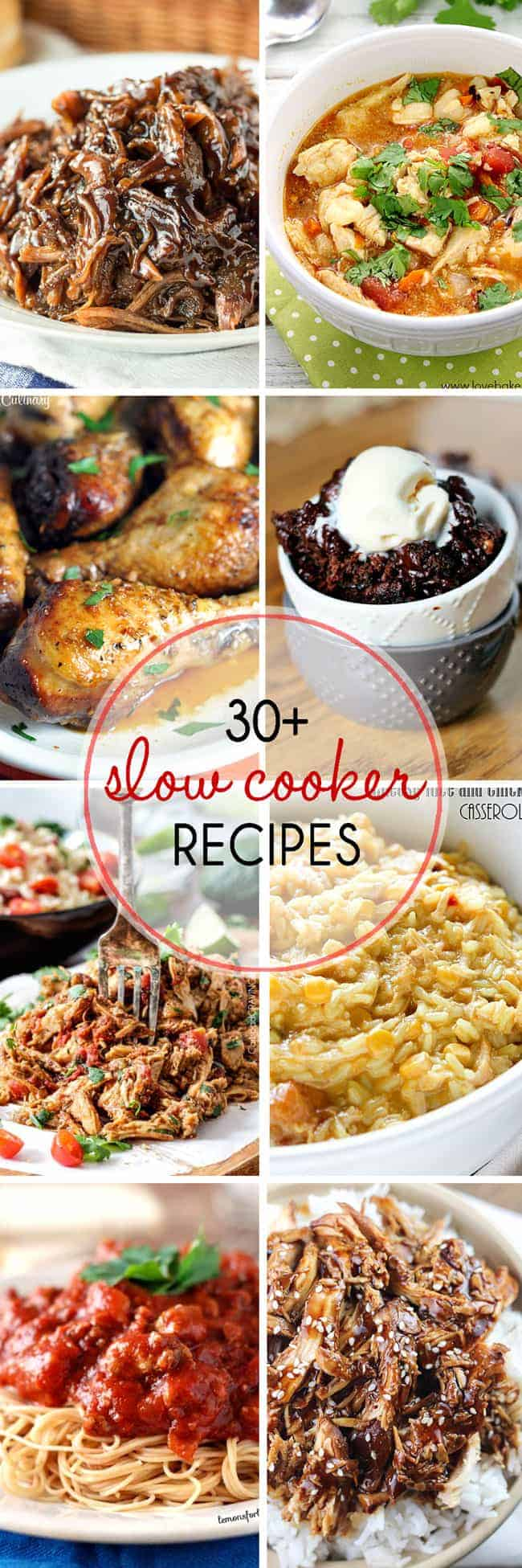 30+ Slow Cooker Recipes -- easy recipes for busy weeknights!
