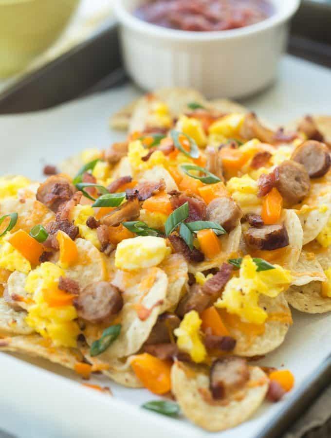 Bacon and Egg Breakfast Nachos