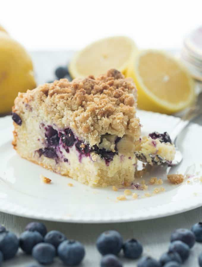Lemon Blueberry Cream Cheese Coffee Cake