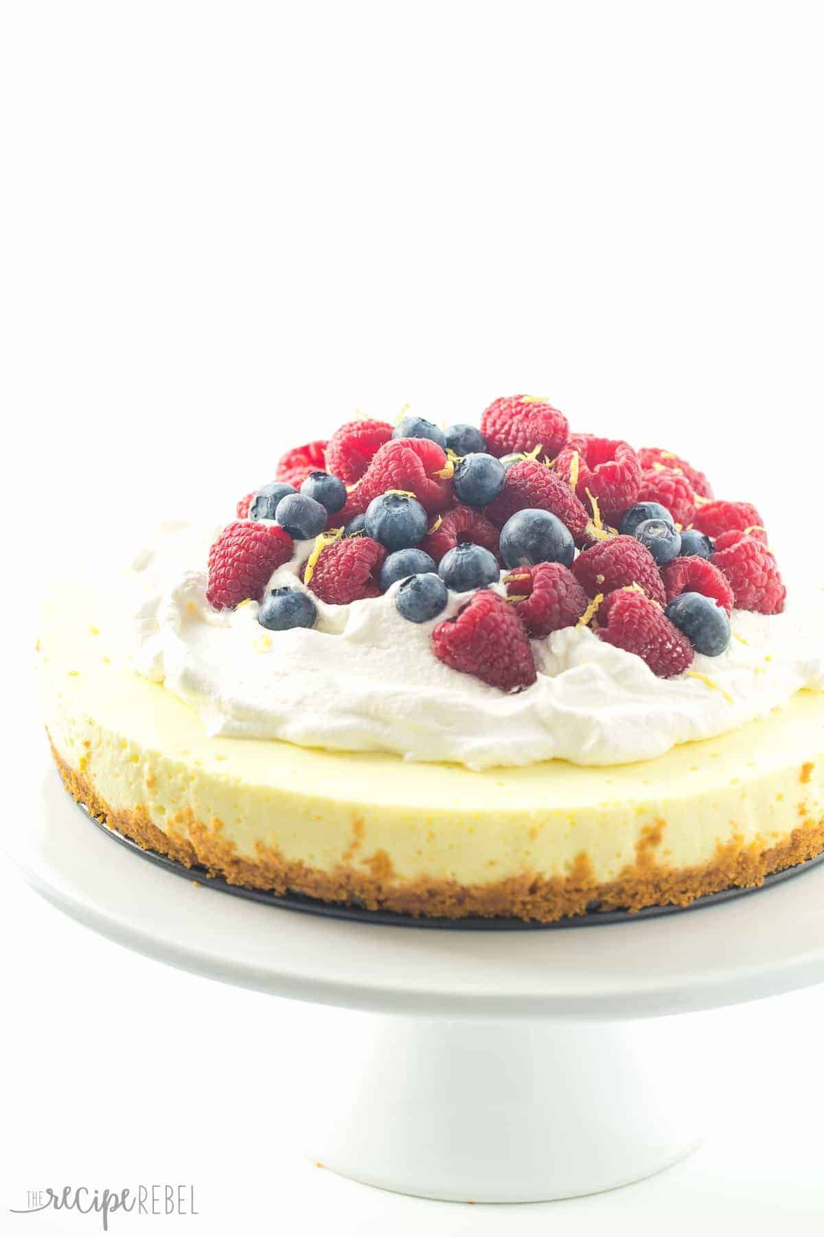 light, luscious, no bake Lemon Cheesecake with a secret ingredient ...