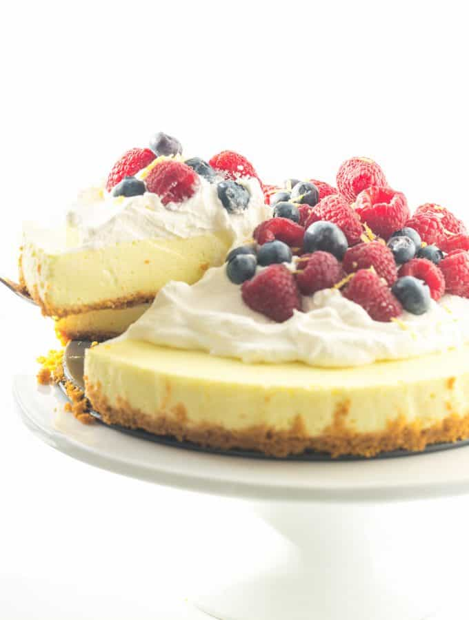 Light No Bake Lemon Cheesecake