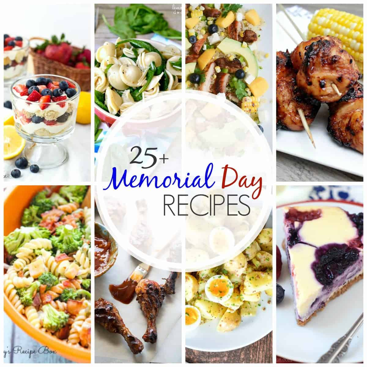 25+ recipes, including salads, desserts, dinners and drinks to see you through all the long weekends in summer, starting with Memorial Day!