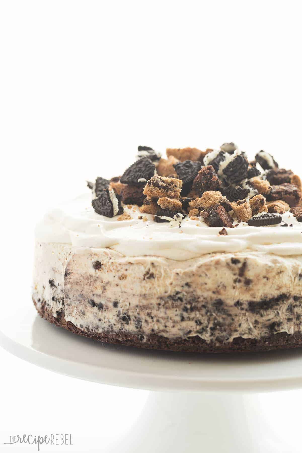 brownie ice cream cake chocolate chip cookie oreo brownie cake recipe 2096