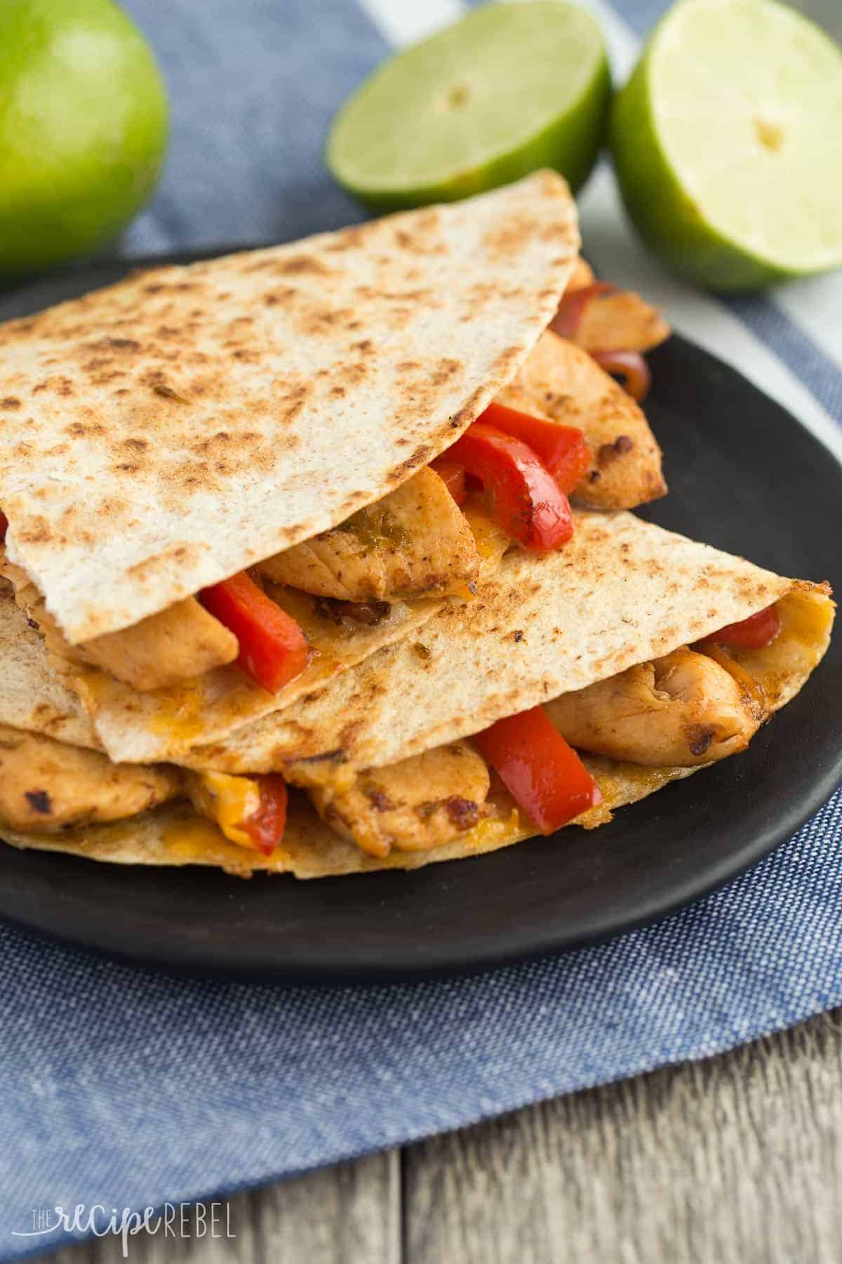 Honey Lime Chicken Quesadillas Recipe 30 Minute Meal