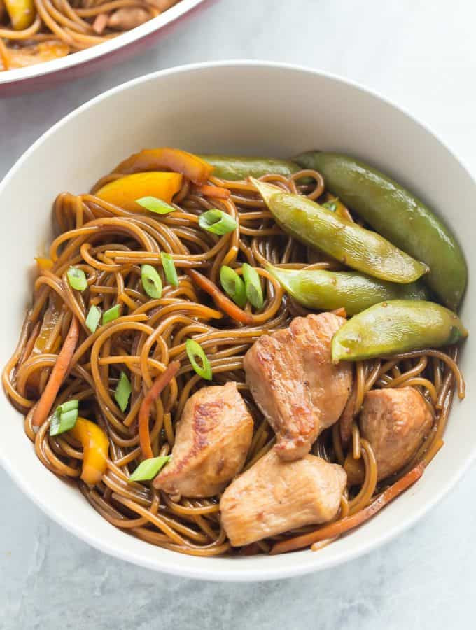 One Pan Teriyaki Chicken and Noodles
