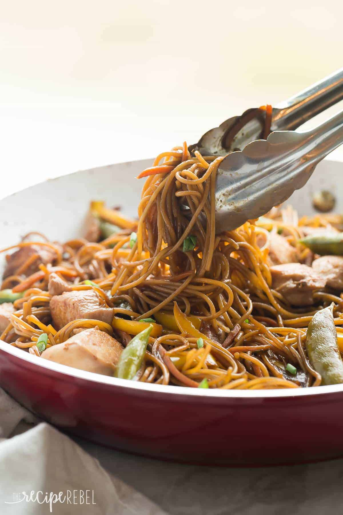 This easy, One Pot Teriyaki Chicken and Noodles is better than any takeout! It's healthier and loaded with veggies, with fewer dishes to wash! PLUS a step by step video! https://www.thereciperebel.com/one-pot-teriyaki-chicken-and-noodles/