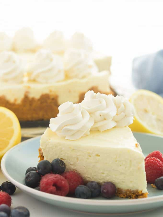 Real Deal No Bake Lemon Cheesecake + RECIPE VIDEO