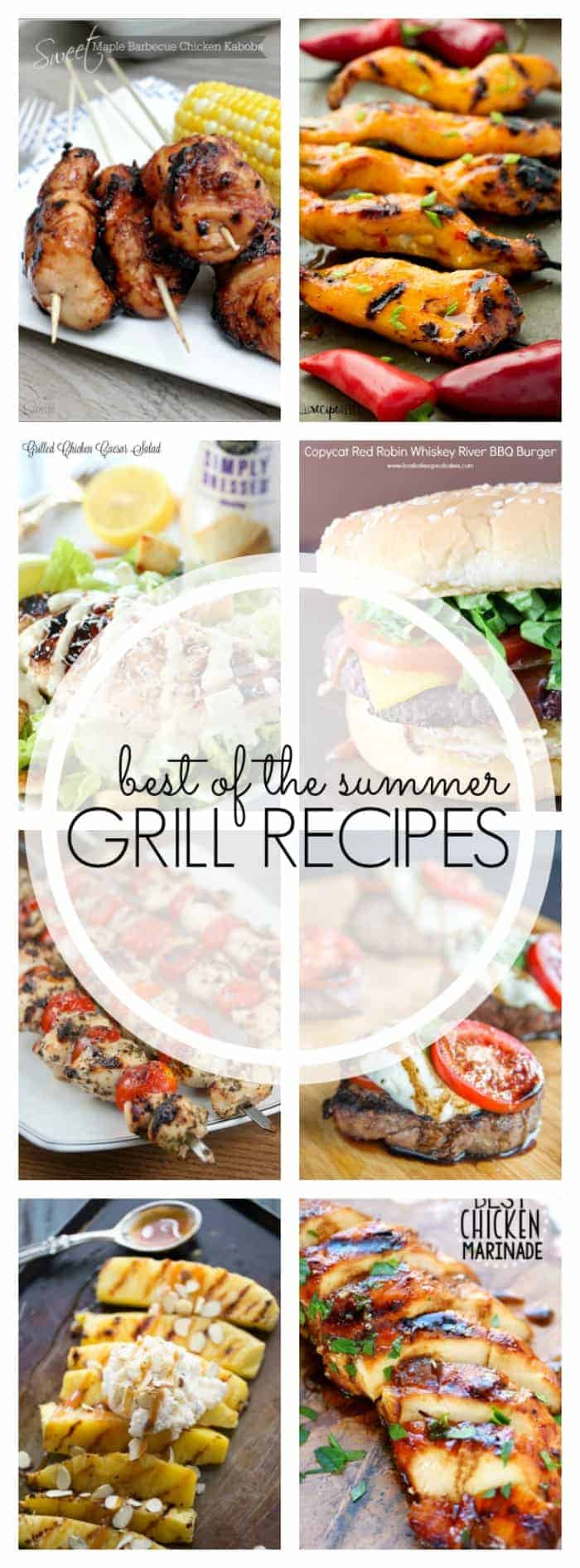 All the summer grilling recipes you need, including hot dogs, chicken, burgers and dessert!