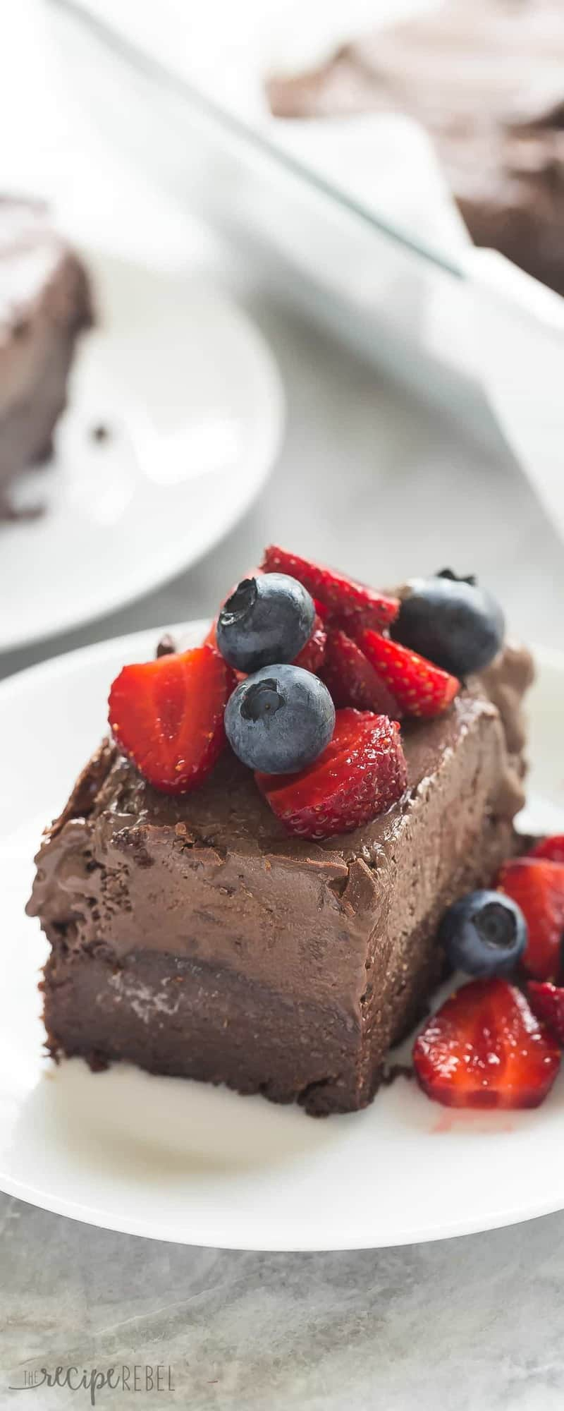 These Frozen Chocolate Truffle Brownie Bars are the perfect summer treat for chocolate lovers! They are rich and creamy and you'd never know they are vegan, gluten free and dairy free.
