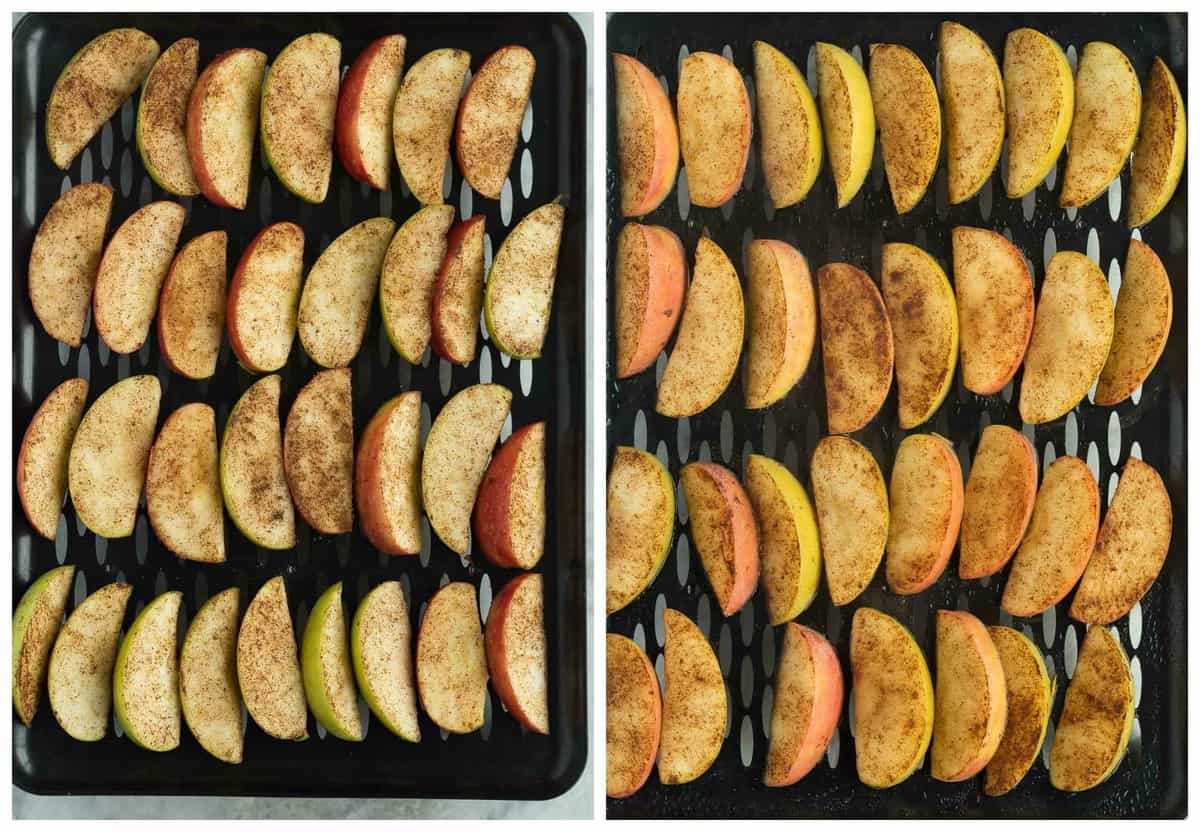 steamed apples
